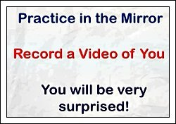Practice Pronuncation in the mirror mirror