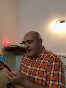University Lecturer recording his voice for Pronunciation Evaluation 1