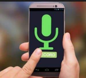 Smart Phone with a recording microphone resourcing your voice