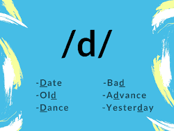 ?d? IPA Sounds with date did dance bad advance yesterday