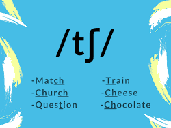 pronunciation of /tʃ/ ch sound Match church question chocolate