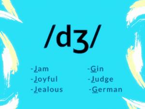 /dʒ/ IPA Sound jam joyful jealous gin judge German