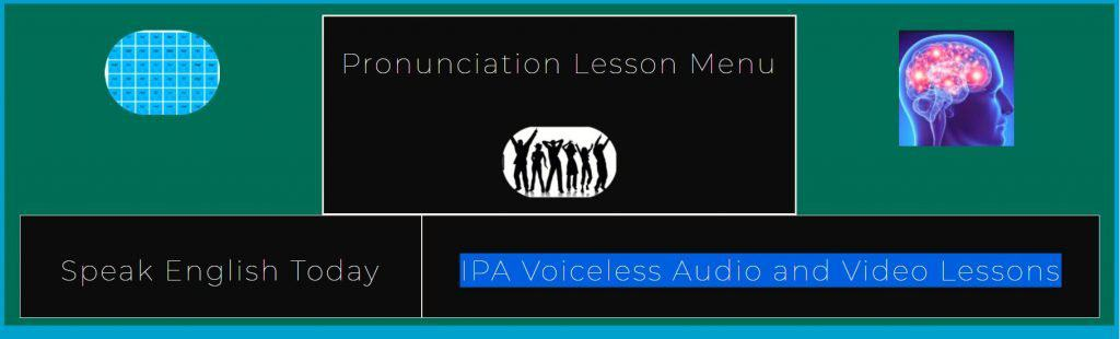IPA Voiceless Audio and Video Lesson Pages Header
