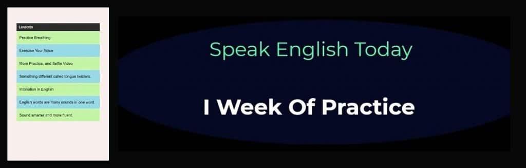 1 week banner