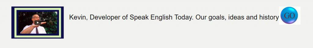 About Speak English Today banner