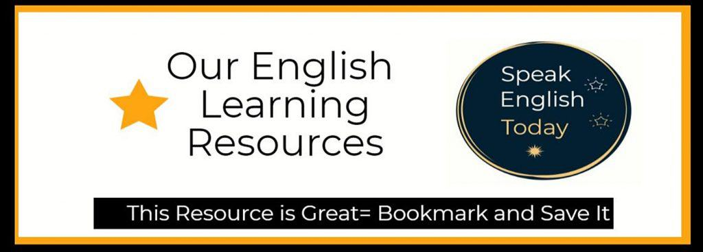 Speak English Today Resources Images Descriptions of Pages and LInks