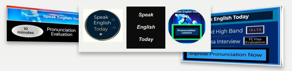 Speak English Today banner blue general