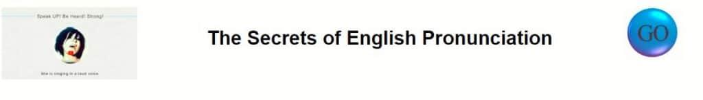 the secrets of English pronunciation banner