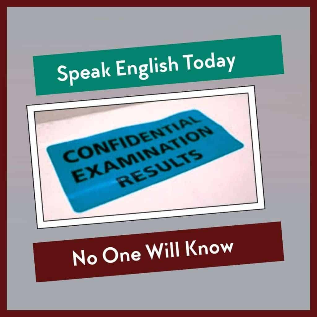 speak english today confidential examination results no one will know logo