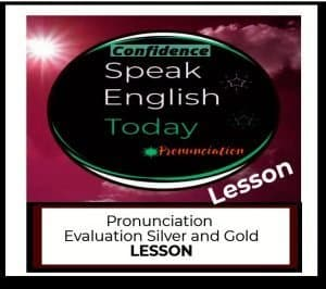 pronunciation evaluation lesson