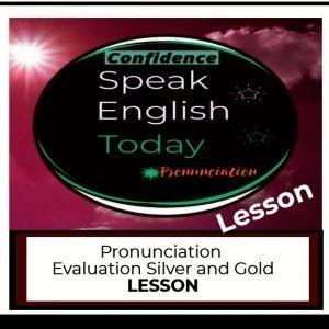 pronunciation evaluation lesson
