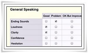 Evaluation general speaking