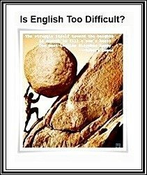 Is English too difficult