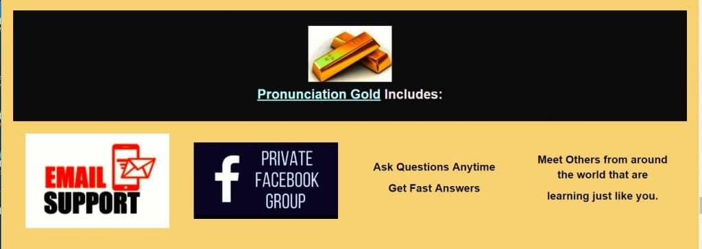 pronunciation gold banner