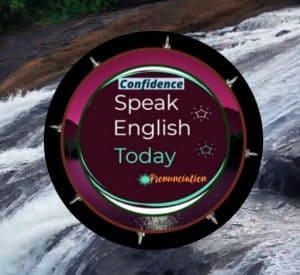 speak English today logo and waterfall background
