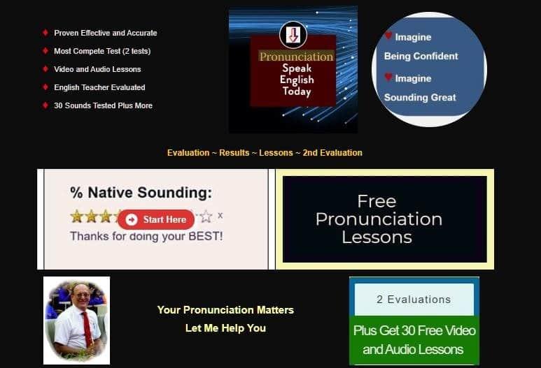 Landing page Pronunciation Evaluation