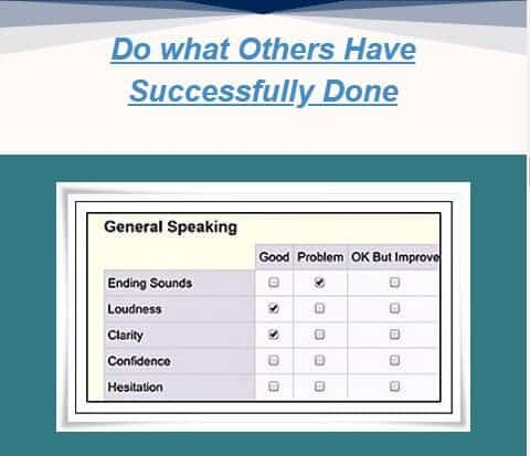 do what others have done and eval chart