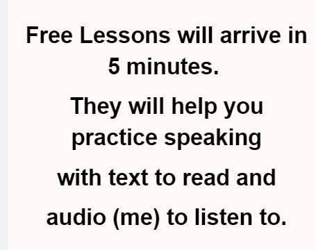 free lessons will help you arrive in email in 5 minutes